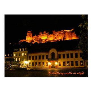 Romantic Heidelberg castle at night Postcard
