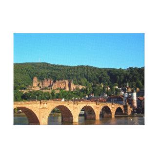 Romantic Heidelberg castle Canvas Print