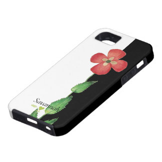 Romantic Heirloom Vintage Pansy Black and White iPhone 5 Cover