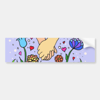 Romantic Holding Hands - dating / anniversary gift Bumper Sticker