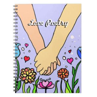 Romantic Holding Hands - dating / anniversary gift Notebooks