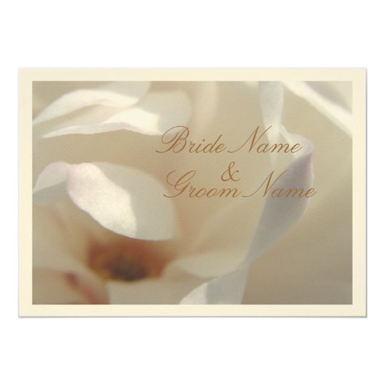 Romantic Ivory Magnolia Wedding Card
