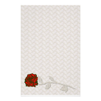 Romantic Lace and Rose Stationary Stationery