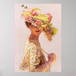 Romantic Lady Victorian Decor Poster
