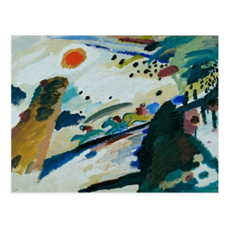Romantic Landscape by Wassily Kandinsky Postcard