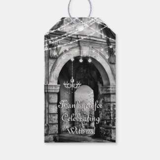 Romantic Lights Gothic Archway Wedding Thank You Gift Tags