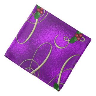 Romantic Lilac Christmas Swirls Bandana