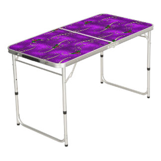 Romantic Lilac Christmas Swirls Beer Pong Table