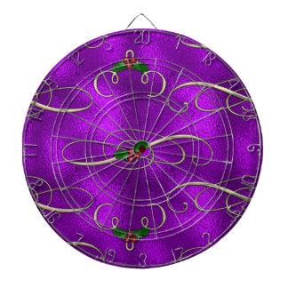 Romantic Lilac Christmas Swirls Dartboard