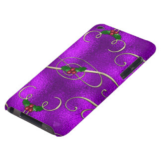 Romantic Lilac Christmas Swirls iPod Touch Case-Mate Case