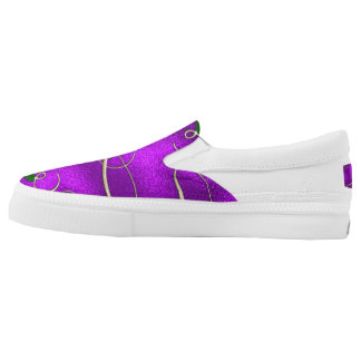 Romantic Lilac Christmas Swirls Slip On Shoes