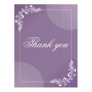 Romantic Lilac vines ornament personalized Postcard