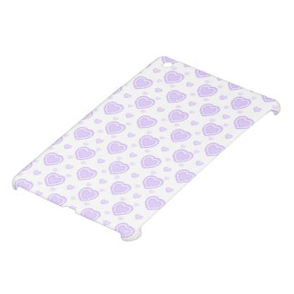 Romantic Lilac & White Hearts iPad Mini Cover