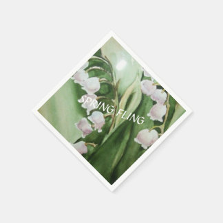 ROMANTIC LILY OF THE VALLEY PAPER NAPKIN