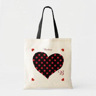 romantic love hearts & dots personalized