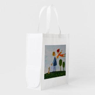 Romantic Love Painting Reusable Bag