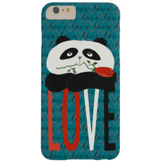 Romantic Love Panda Turquoise Barely There iPhone 6 Plus Case