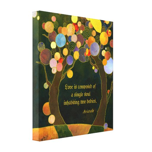 Romantic Love Quote Wedding Gift Wrapped Canvas Canvas Print
