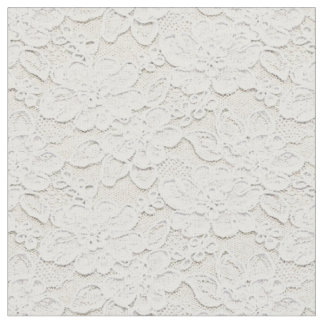 Romantic Lovely Faux White Floral Lace Fabric