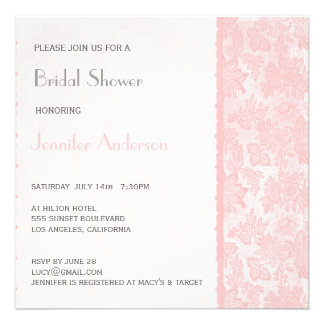 Romantic Lovely Lace Bridal Shower Personalised Invitation