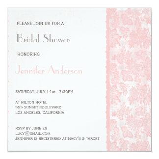 Romantic Lovely Lace Bridal Shower Invite