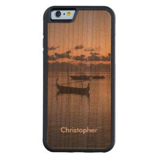 Romantic Maldives Sunset Tropical Ocean Gondola Cherry iPhone 6 Bumper