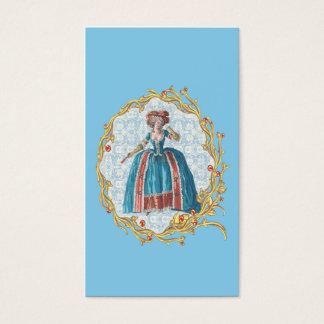 Romantic Marie Antoinette business card Blue