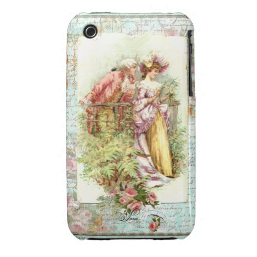 Romantic Marie Antoinette French Couple iPhone 3 Case-Mate Cases