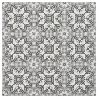 Romantic Moroccan Abstract Floral Tile Pattern Fabric