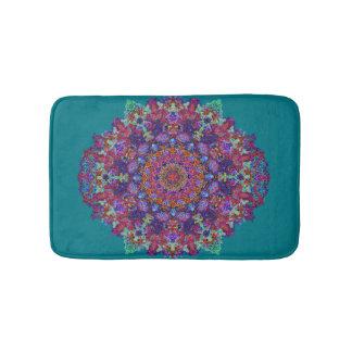 Romantic multi-colored mandala ornament arabesque bath mat