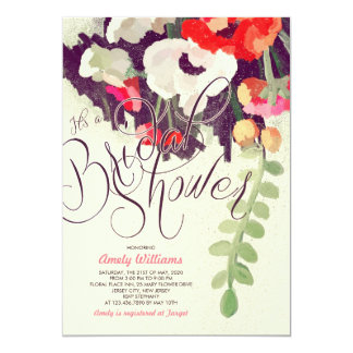 Romantic Multicolor Floral Bridal Shower Invite