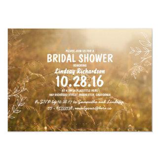 "romantic nature outdoor bridal shower invites 5"" x 7"" invitation card"