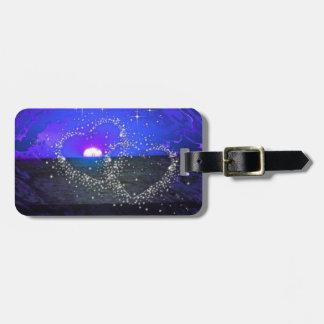 romantic night blue travel bag tags