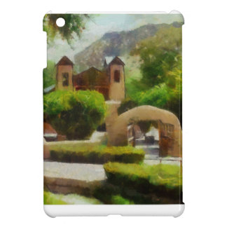 ROMANTIC OLD CHURCH, NEW MEXICO. COVER FOR THE iPad MINI