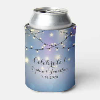 Romantic Outdoor Wedding Twinkle String Lights Can Cooler
