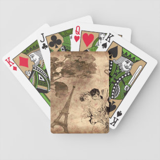 Romantic Paris Vintage Bicycle Playing Cards