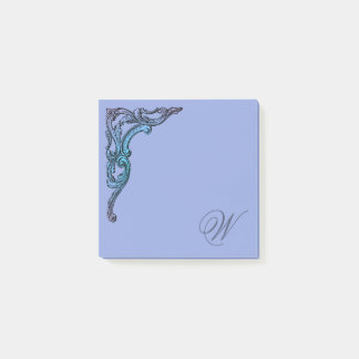 Romantic Pastel Steampunk Goth Personalized Post-it Notes