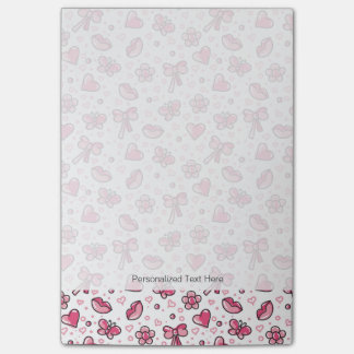 romantic pattern post-it notes