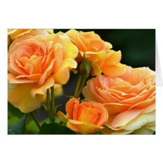 Romantic Peach Rose Floral Greeting Card