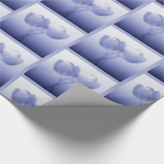 Romantic Periwinkle Blue Tulip Pair Wrapping Paper