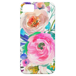 Romantic Pink And Beige Flowers iPhone 5 Cases