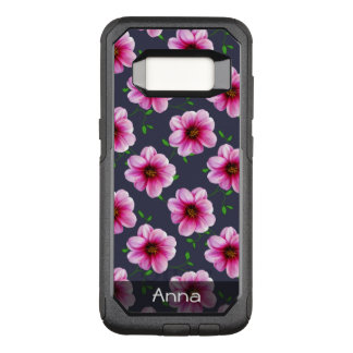Romantic Pink Dahlia Flowers any Color any Text OtterBox Commuter Samsung Galaxy S8 Case