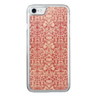 Romantic Pink Distressed Damask Carved iPhone 7 Case