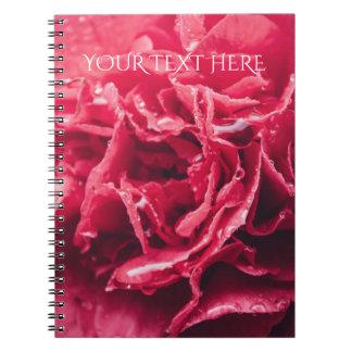 Romantic Pink Flower Closeup | Spiral Notebook
