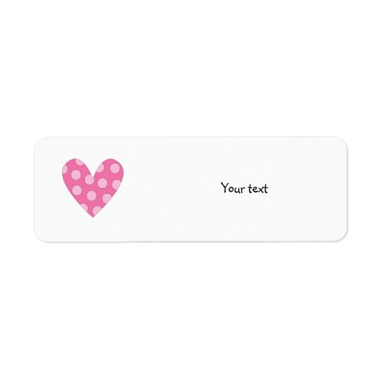 Romantic pink heart drawing return address label