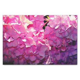 Romantic Pink Hydrangea Tissue Paper