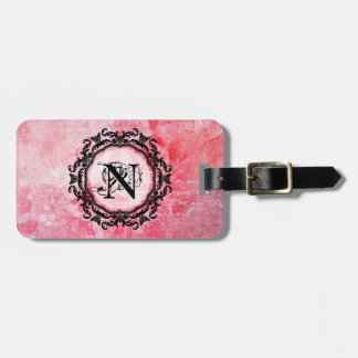 Romantic Pink Old Rose Chic Pattern Luggage Tag
