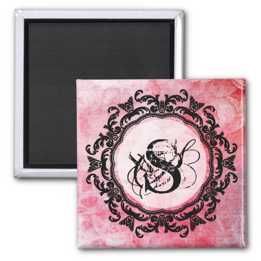 Romantic Pink Old Rose Pattern Magnet