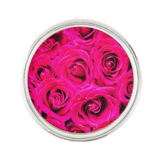 Romantic Pink Purple Roses Lapel Pin