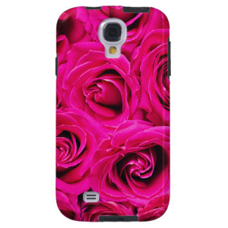 Romantic Pink Purple Roses Pattern Galaxy S4 Case